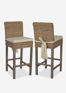 Kelly Rattan Bar Stool (18x21x44)