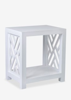 Chippendale Side Table with Shelf (22x16x24)