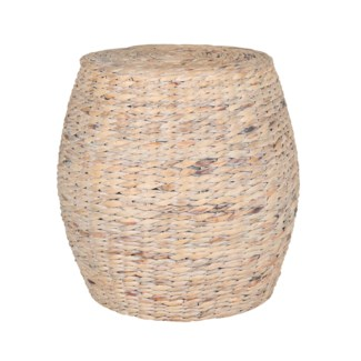 Large rope Drum stool Waterhyacinth (18X18X16)