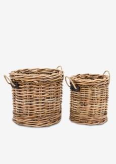 Leeton Round Baskets - Set of 2 (24X24X22/18X18X20)