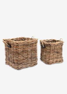 Leeton Square Basket Set of 2 (24X24X22/18X18X20)