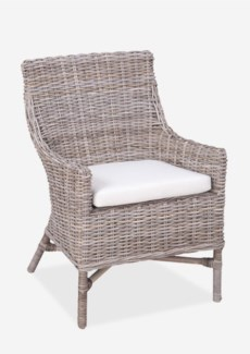 Morgan Rattan Occasional Chair  (23x27x35)