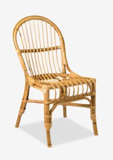 Natural Round Back Rattan Dining Chair-Honey Color-2 pcs/Box - Price shown for 1 pc only