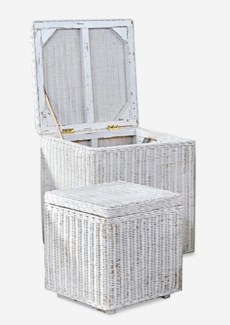 (LS) Square Storage Set of 2 in White Edged..