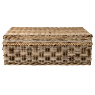 Sabrina Basket Coffee Table W Storage 49x29 5x18