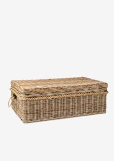 Sabrina Basket Coffee Table W/Storage (49X29.5X18)