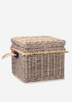 Sabrina Basket End Table W/Storage (20X20X18)