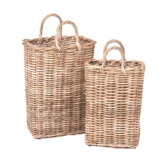 Sabrina Tall Storage Basket Set of 2 (16X10X24/12X7X20)
