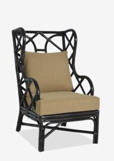 Naples Wingback Chair - Black (25x31.5x44)