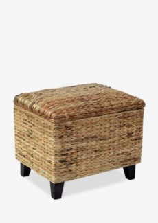 Woven Ottoman with Storage