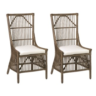 Winston Rattan Dining Side Chair - Vintage Grey (22x23.6x41.3)