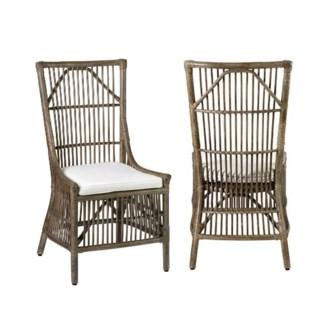 Winston Rattan Dining Side Chair - Vintage Grey (22x23.6x41.3)