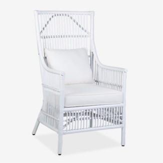 Winston Arm Chair - White (24X27X43)