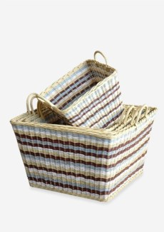 (LS) Funstripes Misty Basket Set-5 (21x21x16)