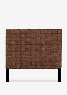(SP) Headboard Abaca Wicker Mix A Queen (62X2X60) Abaca rope + wicker, Square Weave, Natural