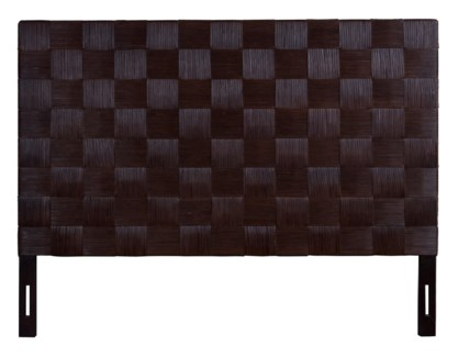 (LS) Headboard Square Dark Brown B King (77x2x60)