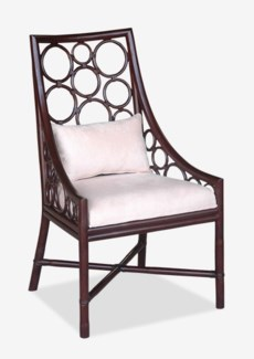 Roman Side Chair - Wenge  (24x25x41.5)
