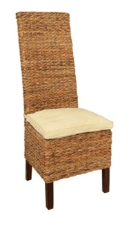 (LS) Lusida High Back Chair Abaca (min qty 2 pcs) (18x21x42)