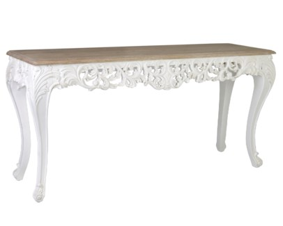 (LS) Baroque Carving Solid Wood Console Table (K/D) ......
