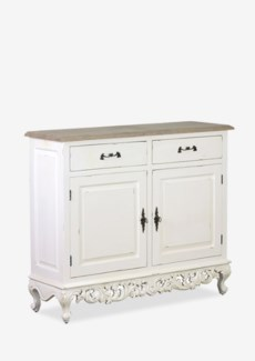 Baroque Cabinet w/ 2Doors and 2 Drawers(43x14x36)