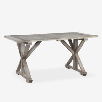 (SP) Cross Base Dining Table (K/D) (63x29.5X33.5)