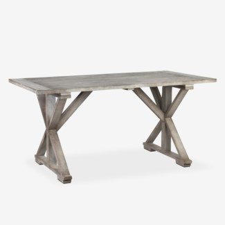 (SP) Cross Base Dining Table (K/D) (63x29.5X33.5)
