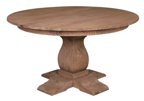 "(LS) Cambridge 55"" round pedestal dining table ......"