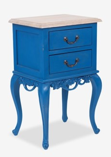(LS) Fiji Side Table with 2 Drawers (18x14x29,6)-Blue