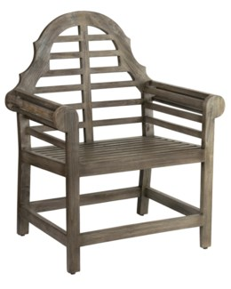 (LS) Georgina Arm Chair Wood-Outdoor(29.9x22.8x36.2)
