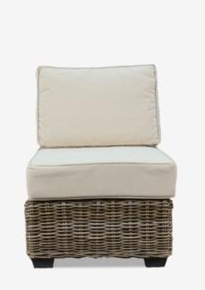 (LS) Seascape Driftwood Rattan Center chair (24X34X29)