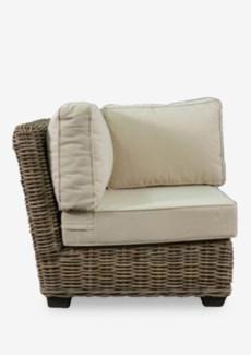 (LS) Seascape Driftwood Rattan Corner Chair (34X34X29)