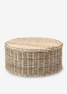 Seascape Driftwood Rattan Round Coffee Table (39X39X18)