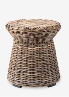 Seascape Driftwood Rattan Side Table(20X20X22)