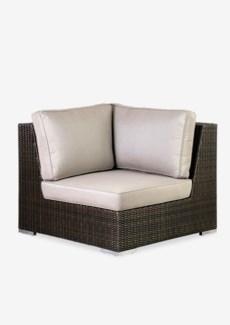 (LS) Pisa Corner Chair - Outdoor (Prussian Dark Bronze) (39X39X30)