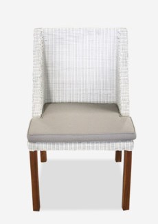 (LS) Swooped Dining Chair-Outdoor (21.5x21x35)