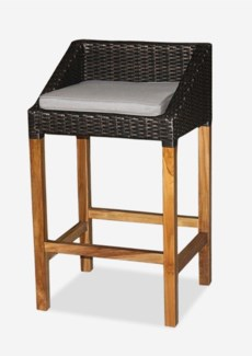 (LS) Swooped Barstool-Prussian Dark Bronze - Outdoor  (21.65x18x37)