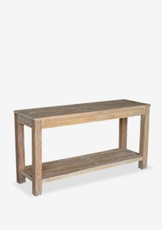 (SP) Domme Console Table-White Patina (59x18x30)