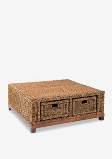 Rinna woven cocktail table w/ 4 drawers  (39X39X16)