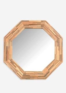 (LS) Rosario Wood Mirror-Large (29.5x1.6x29.5)