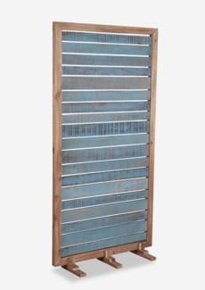 (LS) Sedona reclaimed wood divider w/ wood frame - Blue Aged (35X15X70)