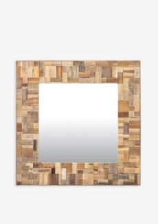 (LS) Sequoia Square Mirror (35X2X35)