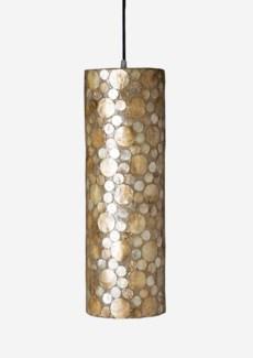 (LS) Bubbles decorative pendant w/ shell accent-M (6X6X20)