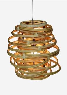 (SP) Oceola Hanging Lamp - Kubu Natural (18x18x19)
