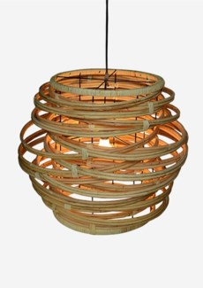 Oceola Drum Hanging Lamp – Large-Kubu Natural (24X24X19)