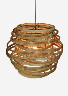 (SP) Oceola Drum Hanging Lamp ? Large-Kubu Natural (24X24X19)