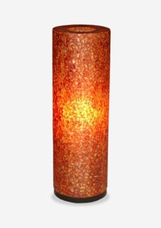 (LS) Viona Round Table Lamp - Large - Orange (8X8X24)