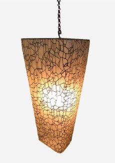(LS) Artistry Pia Crackled Hanging Lamp (12x12x20.5)