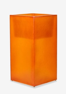 (LS) Labota Square Planter/Lamp (L) - ORANGE (18x18x35)