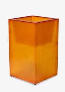 (LS) Labota Square Planter/Lamp (M)-ORANGE (18x18x23.5)