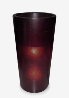 (LS) Kania Round Cylinder Planter/Lamp (L) - Purple (18X18X35)